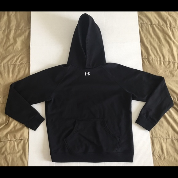 Under Armour Other - Under Armour Black Running Pullover Hoodie Sz Med